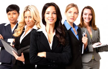 Businesswomen on White
