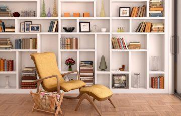 illustration of white shelves for decoration