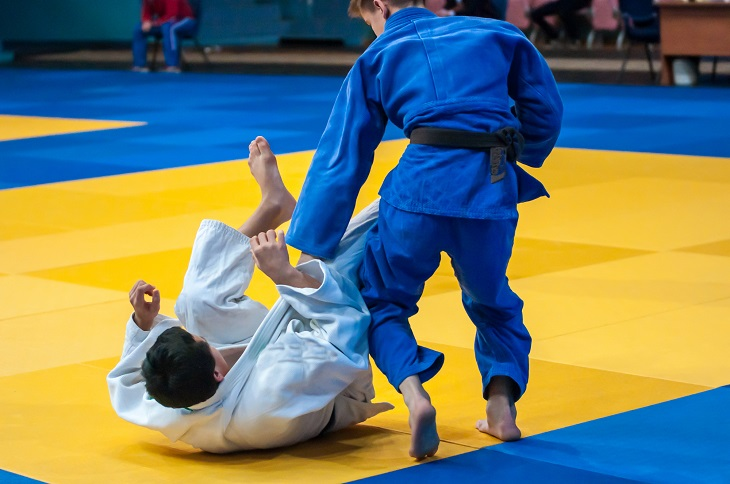 Judo Japanese martial art philosophy and sports battle without weapons.