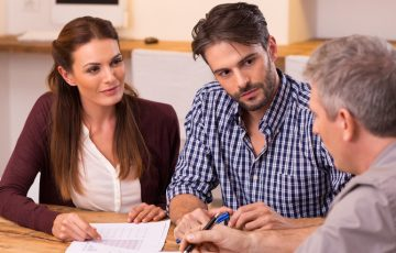 Couple meeting financial advisor