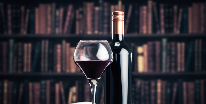 Library and wine