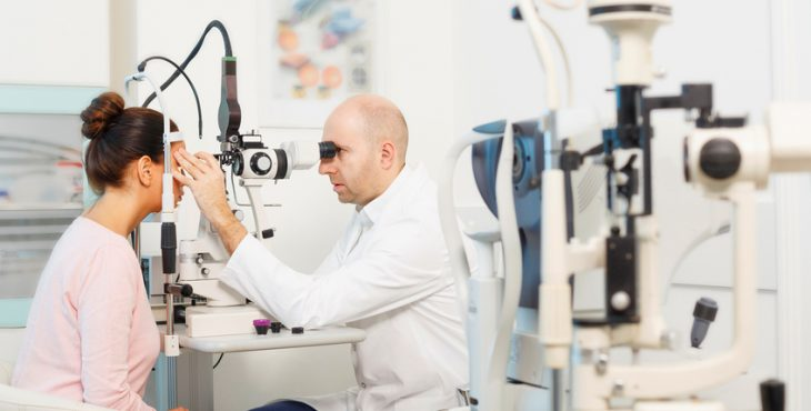 At the optician   Ophthalmology   Doctor ophthalmologist   Optometrist medical eye examination